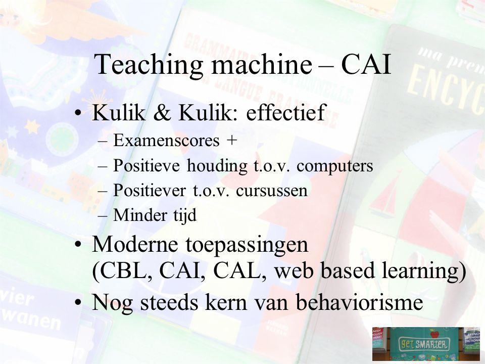 Teaching machine – CAI Kulik & Kulik: effectief