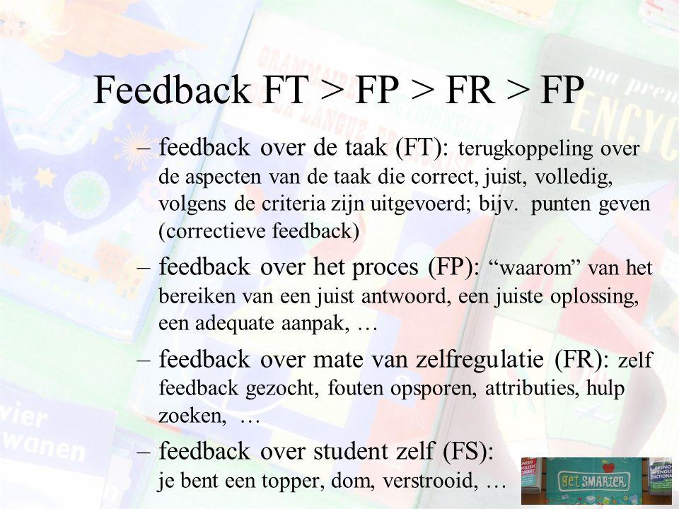 Feedback FT > FP > FR > FP