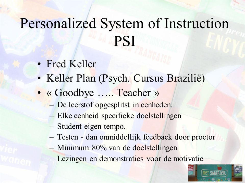 Personalized System of Instruction PSI