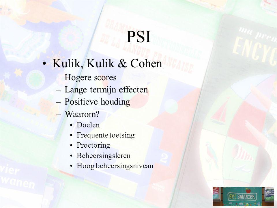 PSI Kulik, Kulik & Cohen Hogere scores Lange termijn effecten