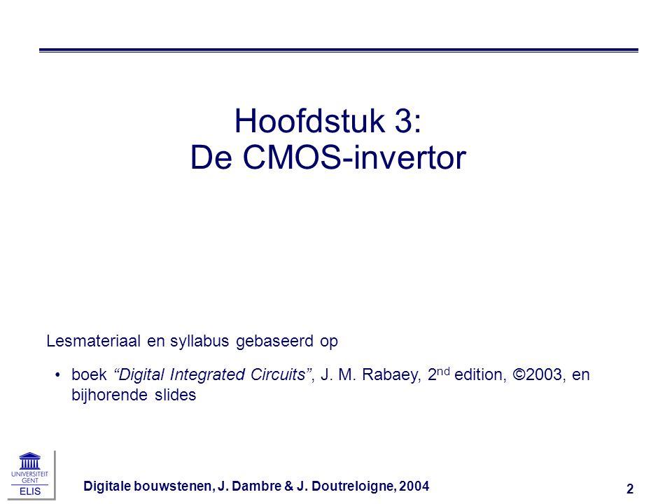 Hoofdstuk 3: De CMOS-invertor