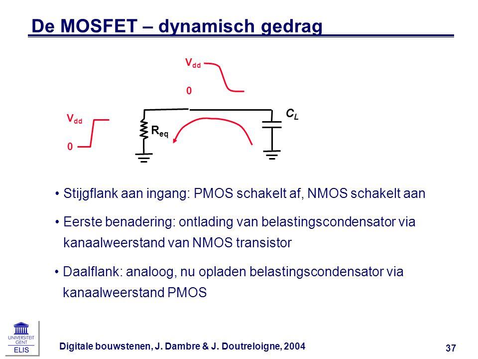 De MOSFET – dynamisch gedrag