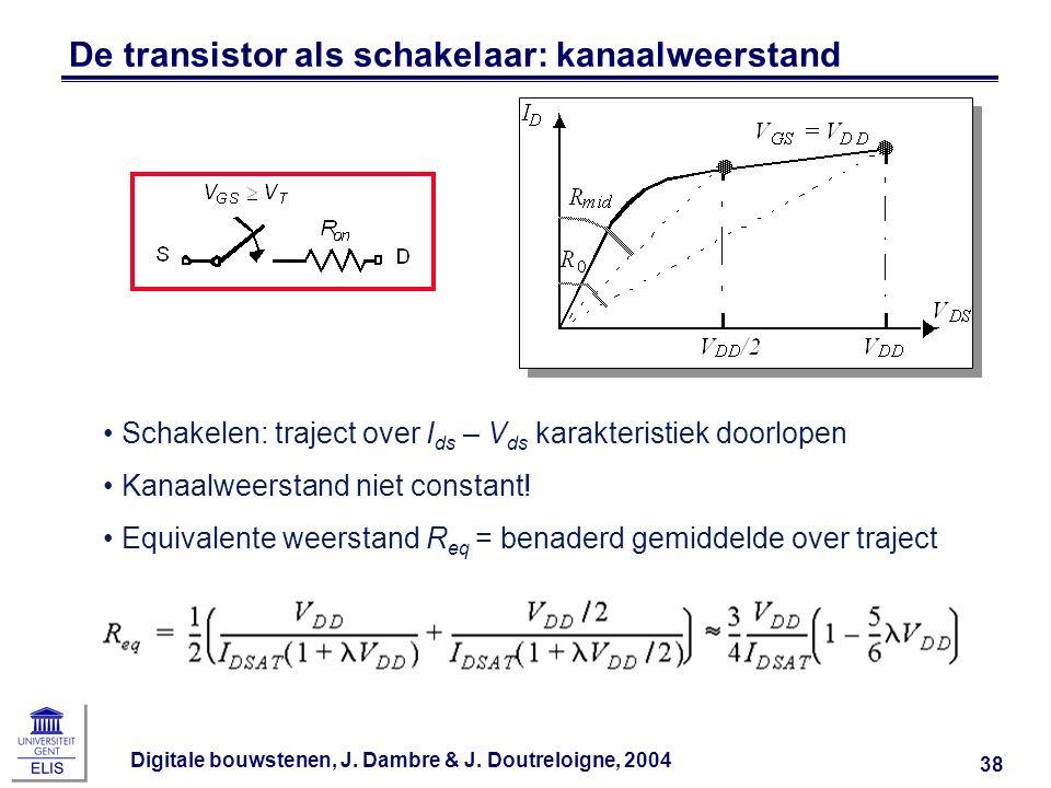 De transistor als schakelaar: kanaalweerstand