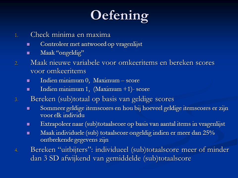 Oefening Check minima en maxima