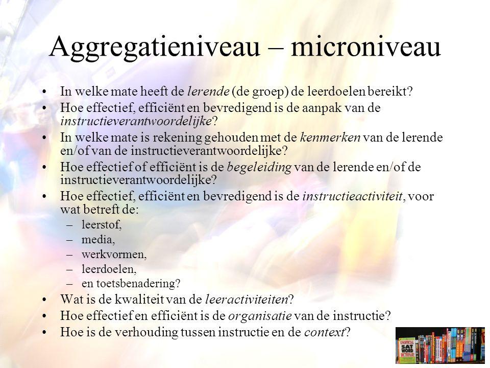 Aggregatieniveau – microniveau