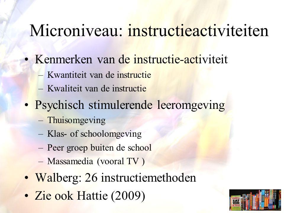Microniveau: instructieactiviteiten