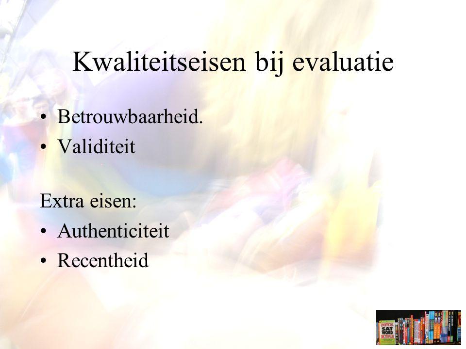 Kwaliteitseisen bij evaluatie