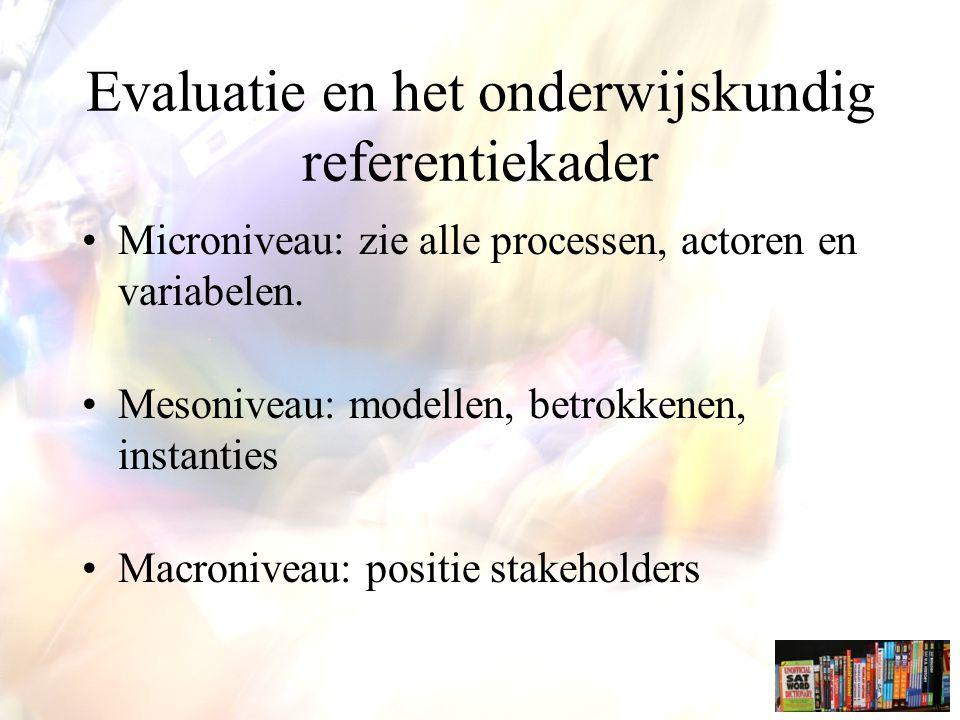Evaluatie en het onderwijskundig referentiekader