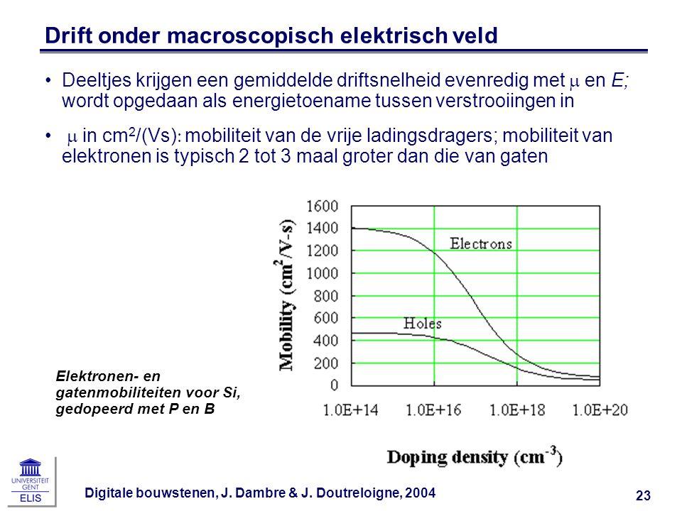 Drift onder macroscopisch elektrisch veld