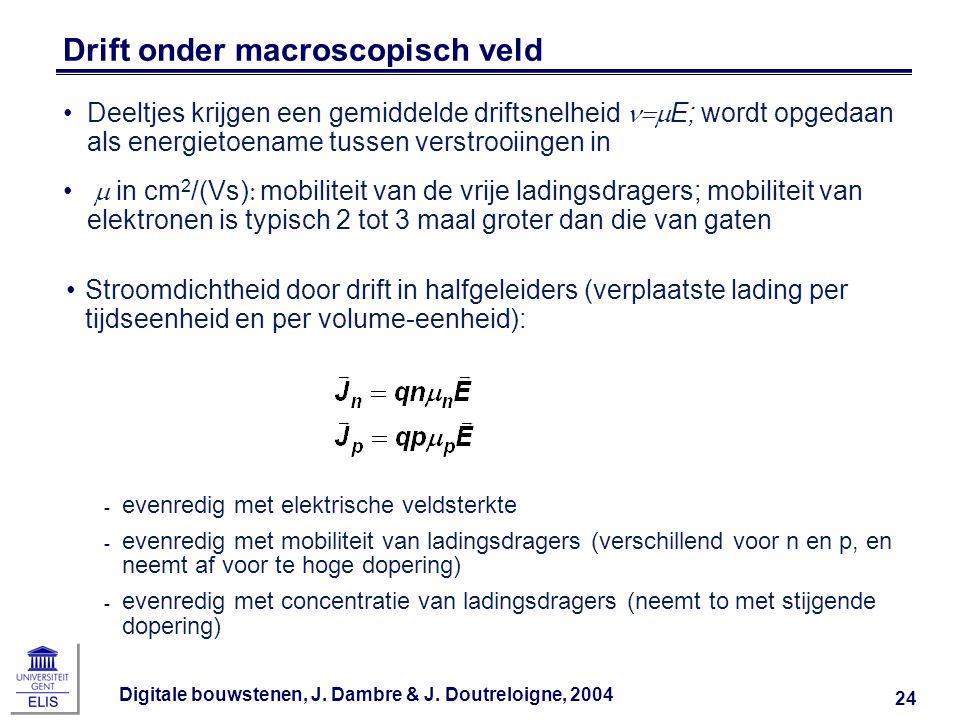Drift onder macroscopisch veld