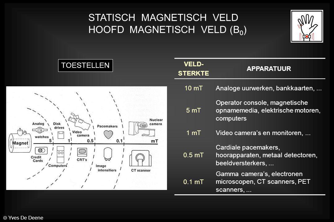 STATISCH MAGNETISCH VELD HOOFD MAGNETISCH VELD (B0)
