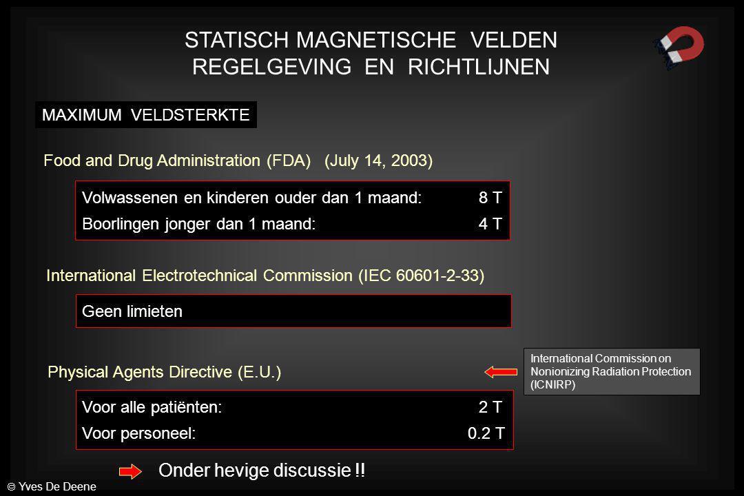 STATISCH MAGNETISCHE VELDEN REGELGEVING EN RICHTLIJNEN