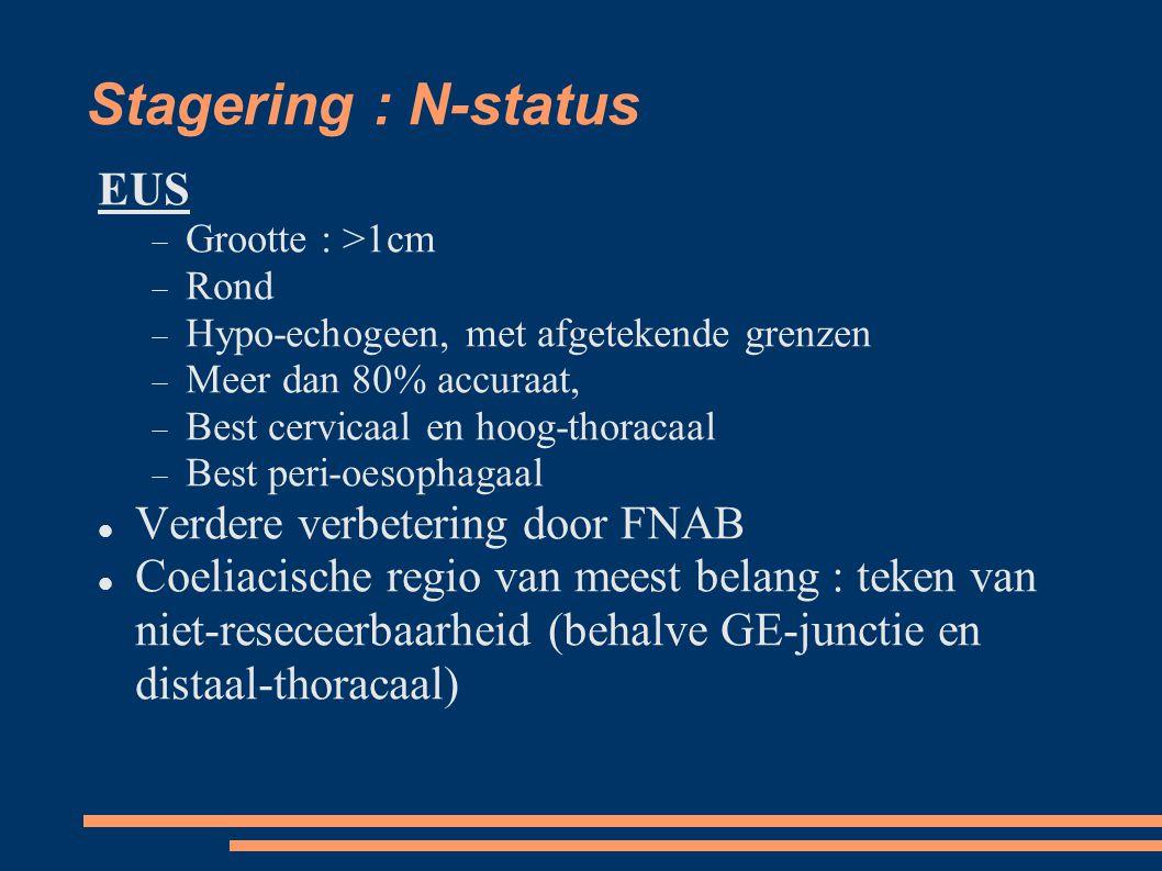 Stagering : N-status EUS Verdere verbetering door FNAB