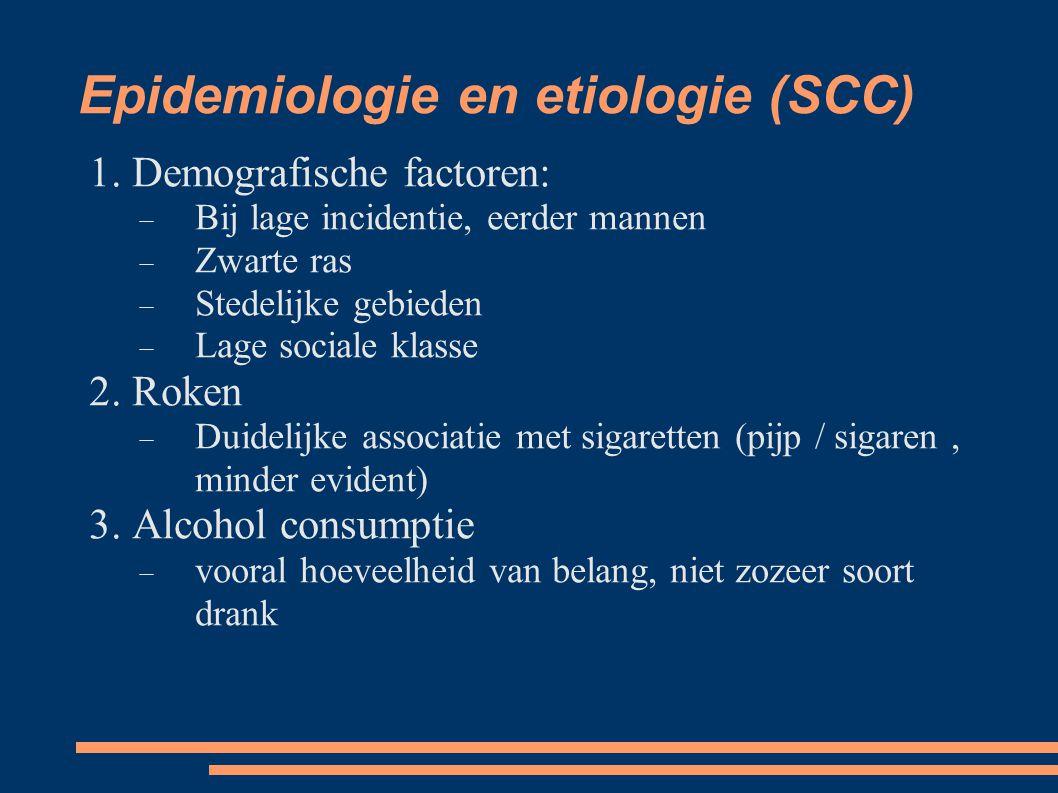 Epidemiologie en etiologie (SCC)