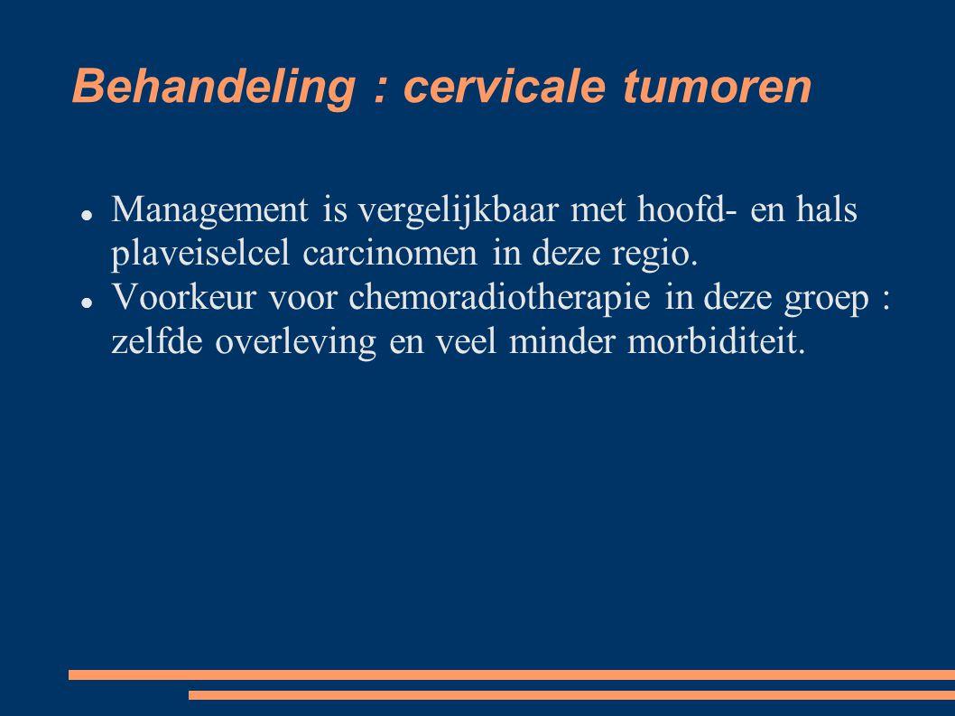 Behandeling : cervicale tumoren