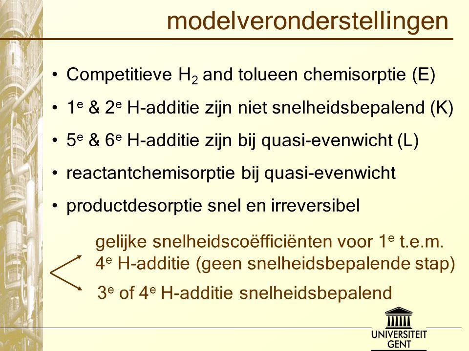 modelveronderstellingen