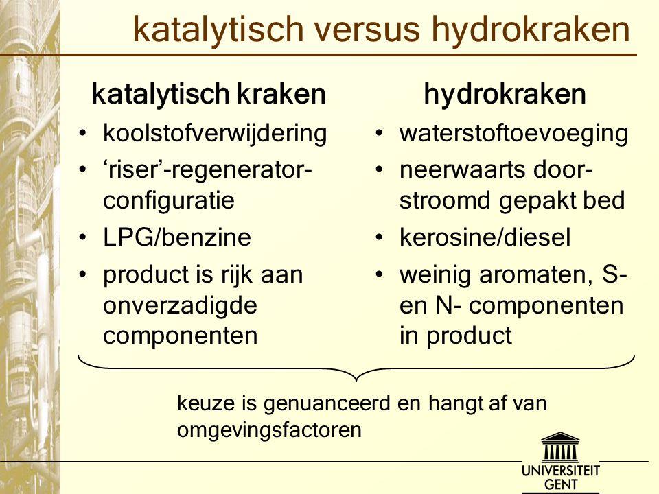 katalytisch versus hydrokraken