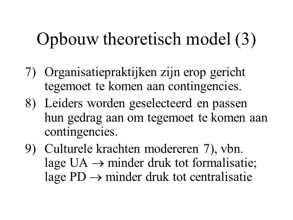 Opbouw theoretisch model (3)