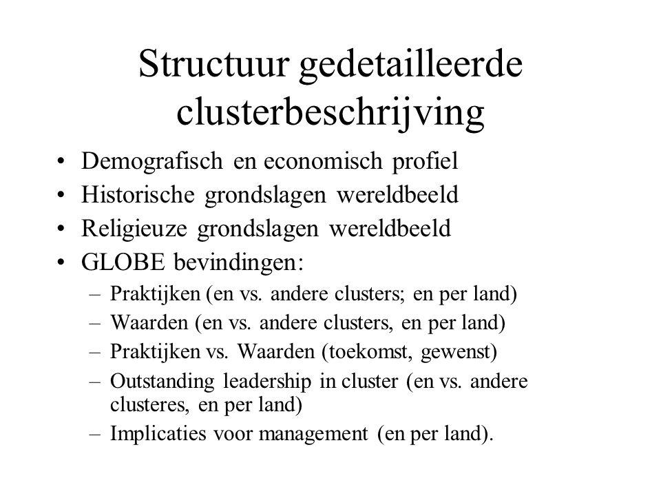 Structuur gedetailleerde clusterbeschrijving