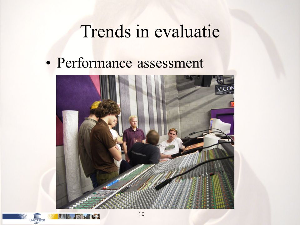 Trends in evaluatie Performance assessment