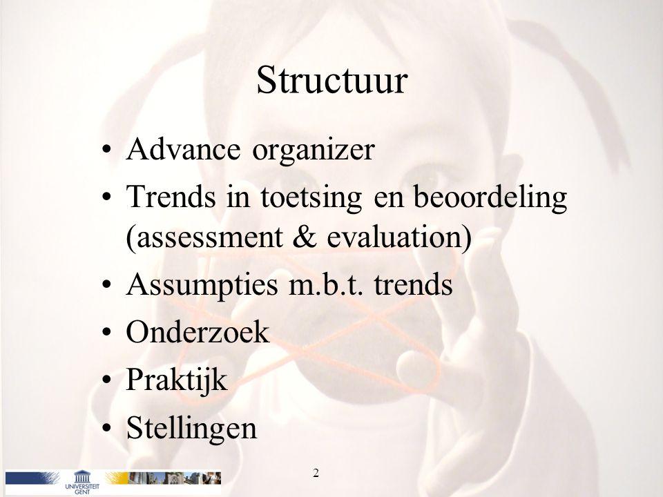 Structuur Advance organizer