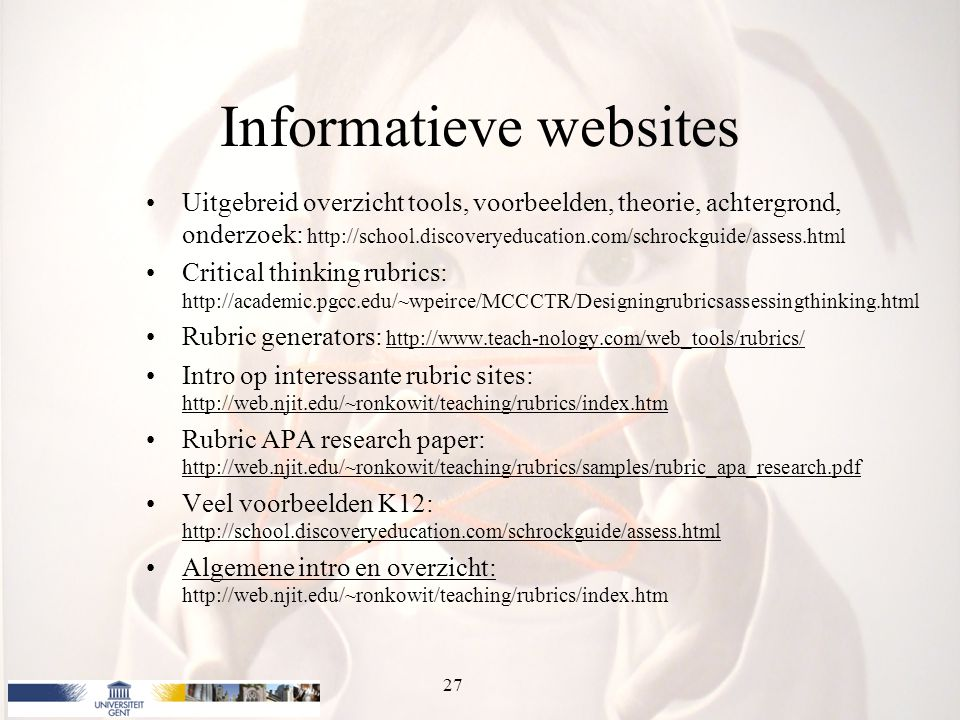Informatieve websites