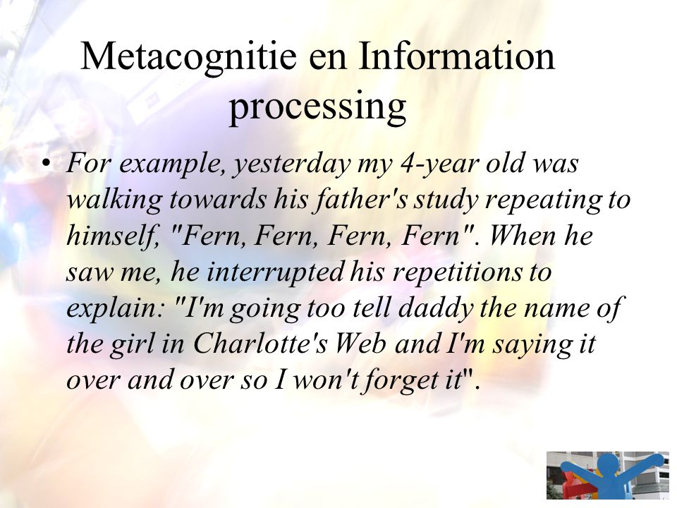 Metacognitie en Information processing