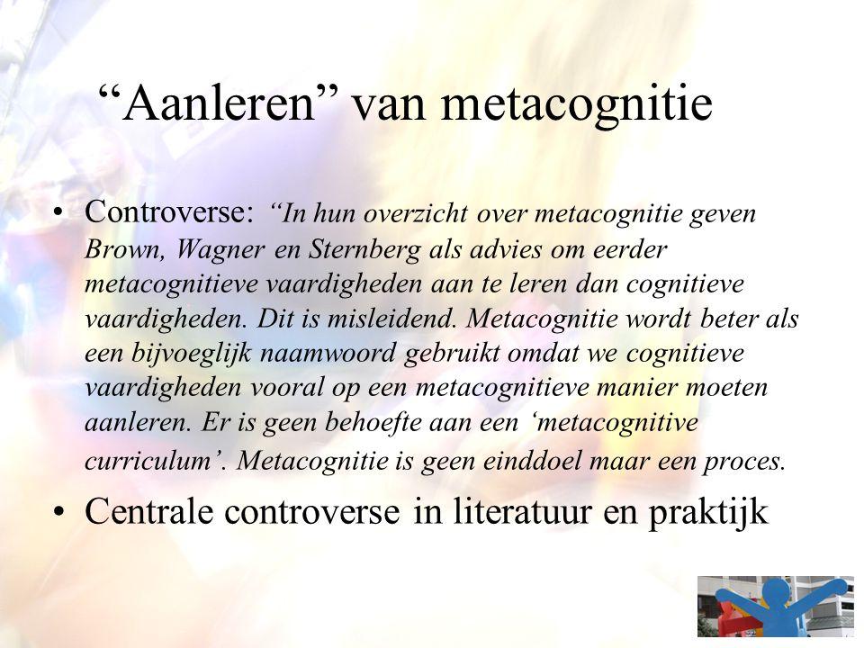 Aanleren van metacognitie