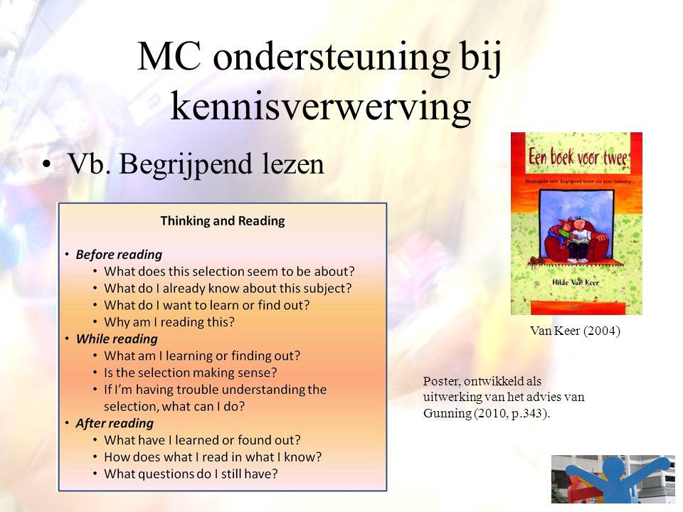 MC ondersteuning bij kennisverwerving