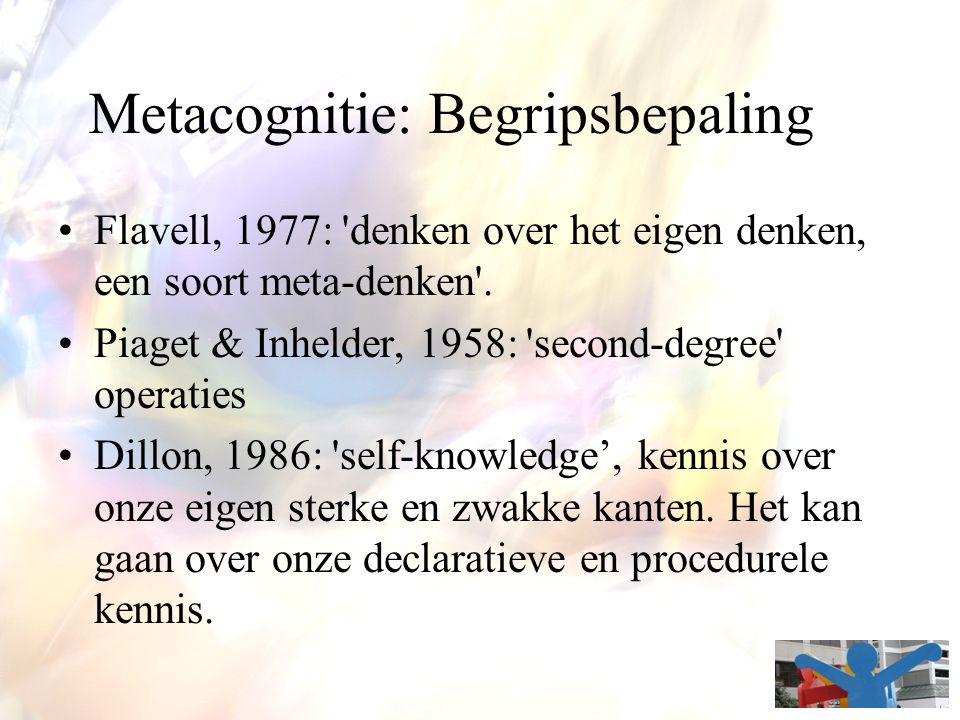 Metacognitie: Begripsbepaling