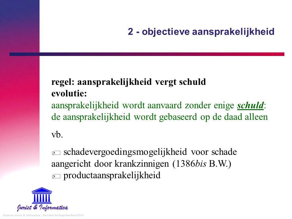 2 - objectieve aansprakelijkheid