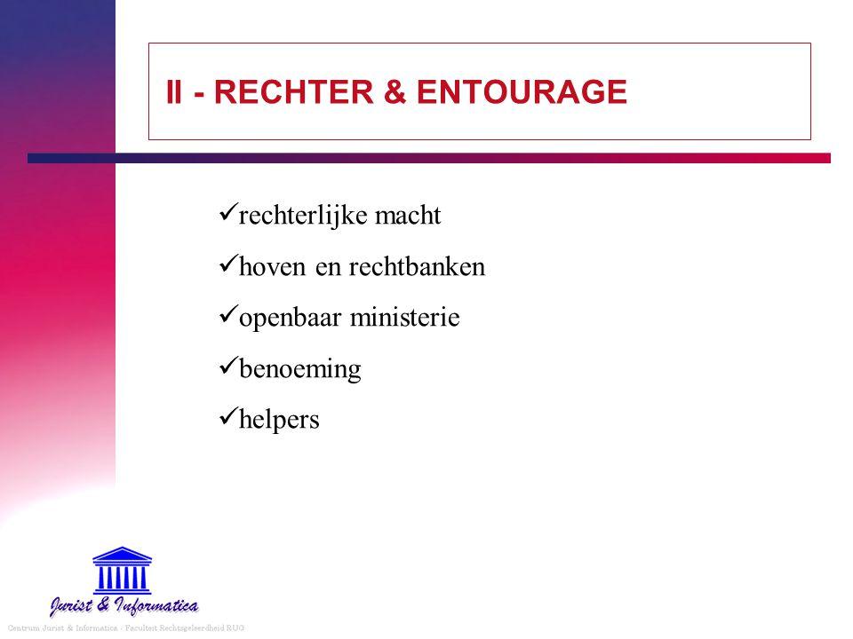 II - RECHTER & ENTOURAGE