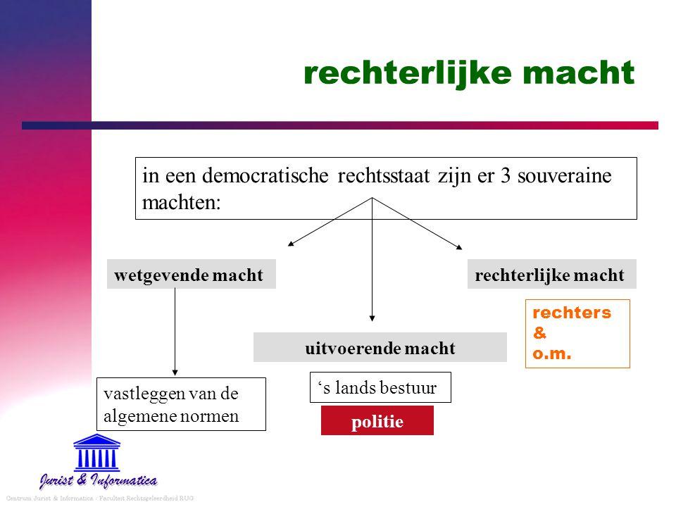 rechterlijke macht in een democratische rechtsstaat zijn er 3 souveraine machten: wetgevende macht.