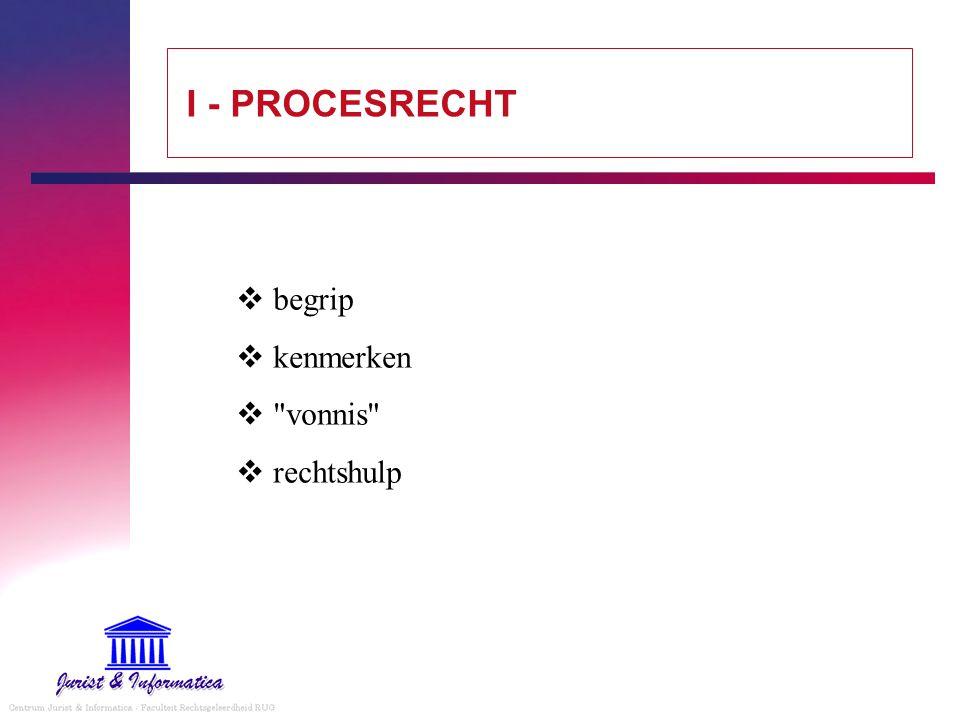 I - PROCESRECHT begrip kenmerken vonnis rechtshulp