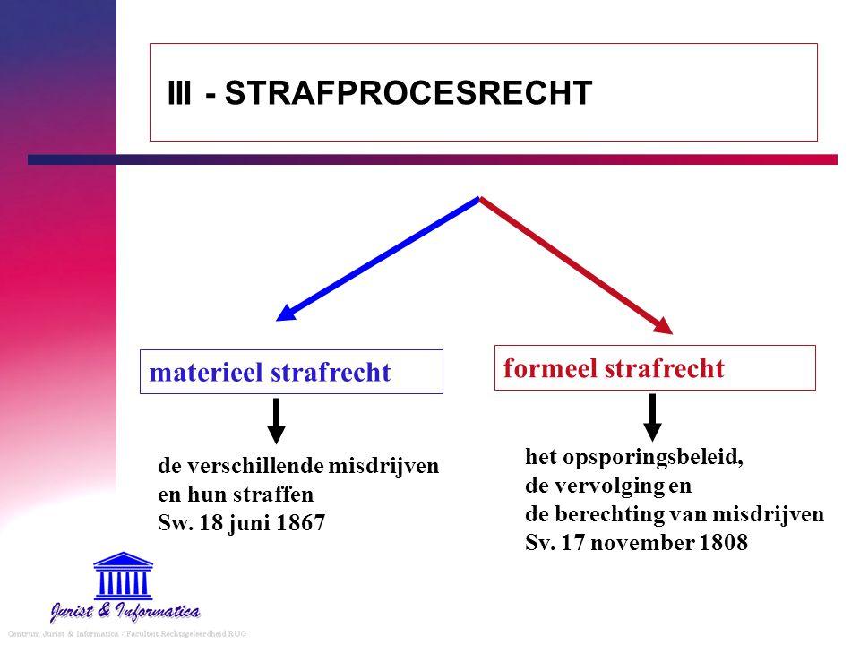 III - STRAFPROCESRECHT