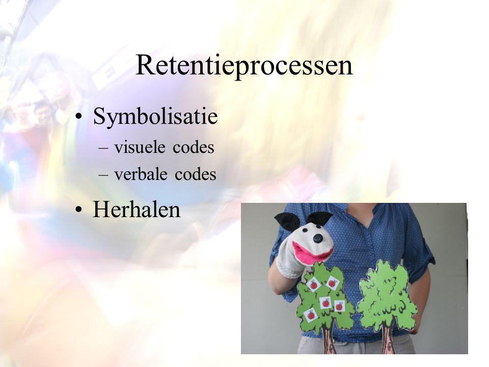 Retentieprocessen Symbolisatie visuele codes verbale codes Herhalen