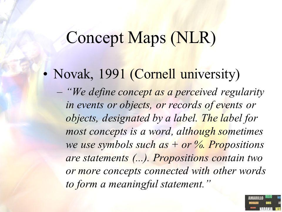Concept Maps (NLR) Novak, 1991 (Cornell university)