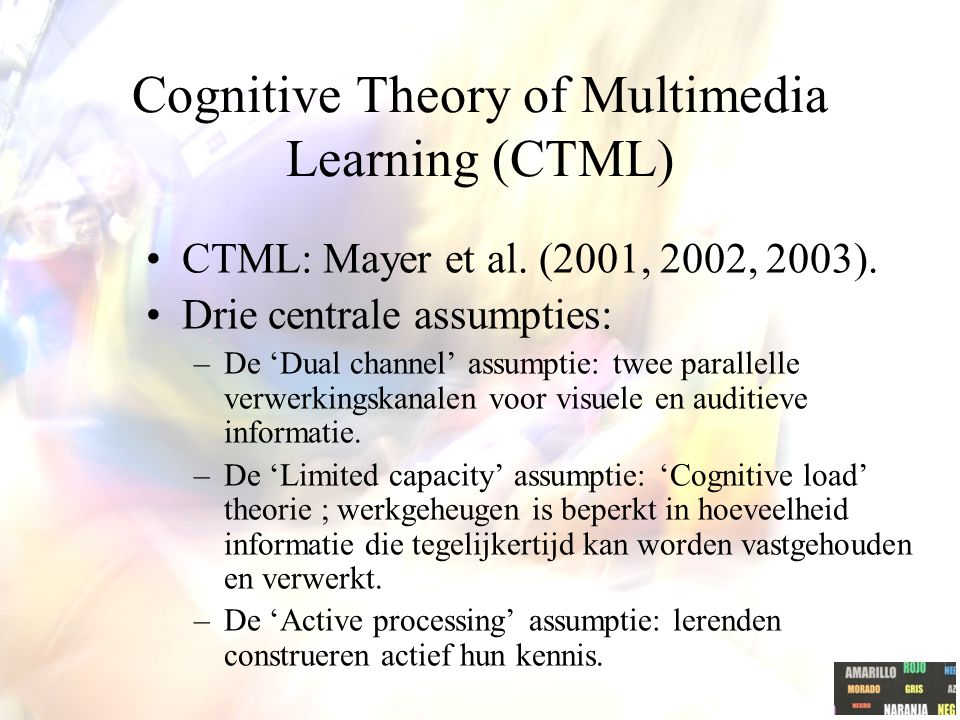 Cognitive Theory of Multimedia Learning (CTML)