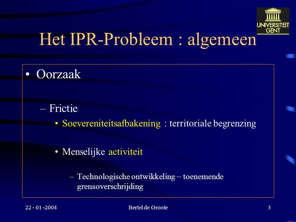 Het IPR-Probleem : algemeen