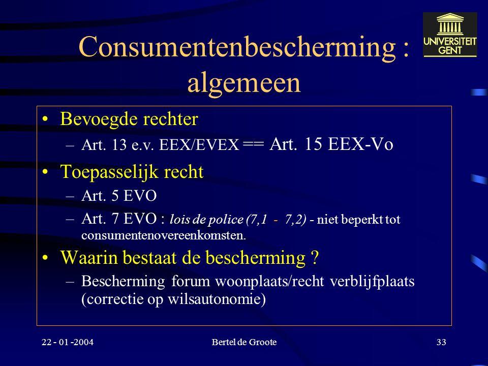 Consumentenbescherming : algemeen