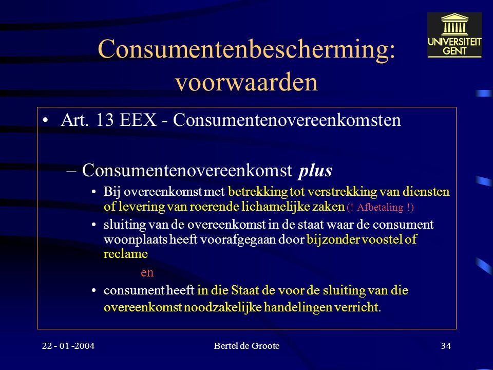 Consumentenbescherming: voorwaarden