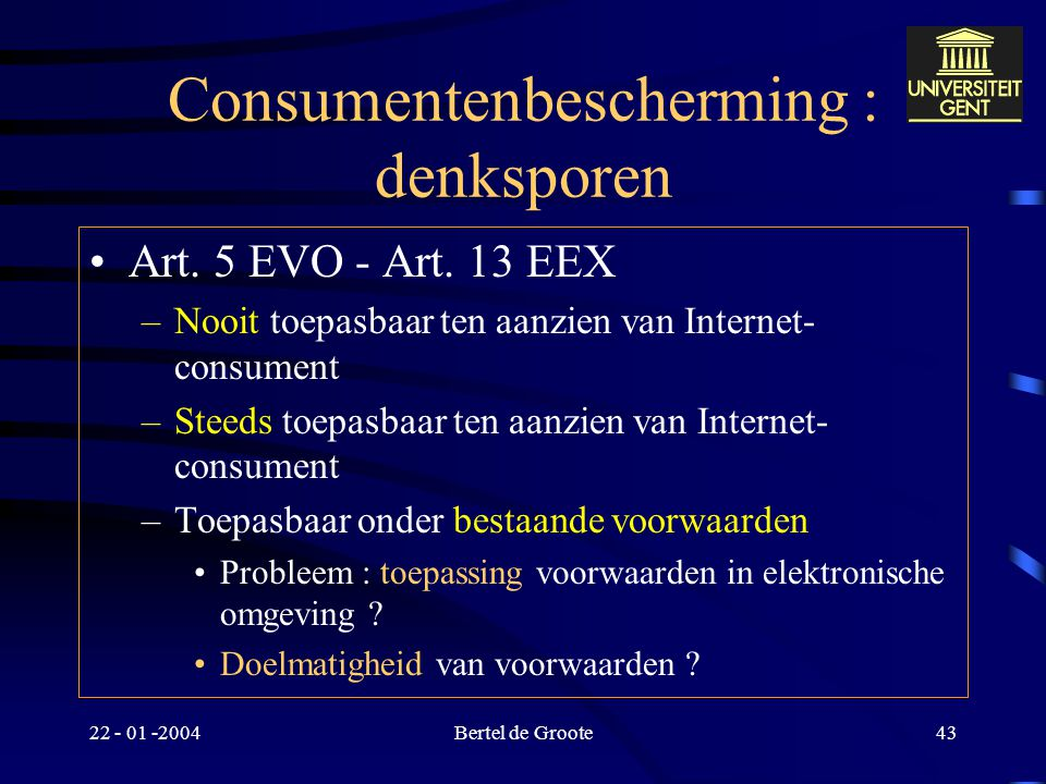 Consumentenbescherming : denksporen