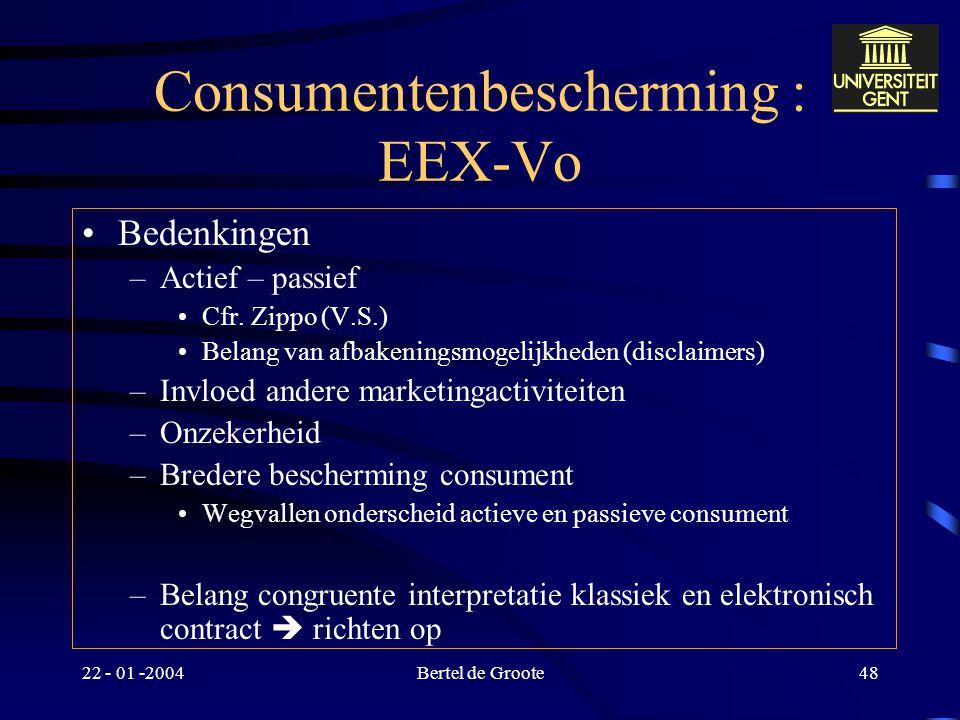 Consumentenbescherming : EEX-Vo