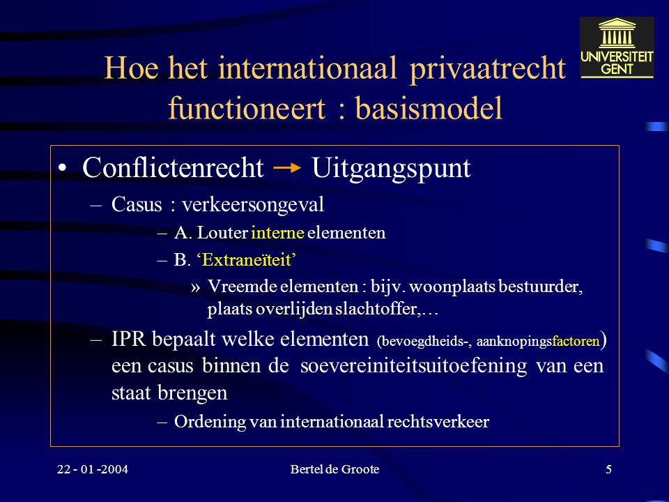 Hoe het internationaal privaatrecht functioneert : basismodel