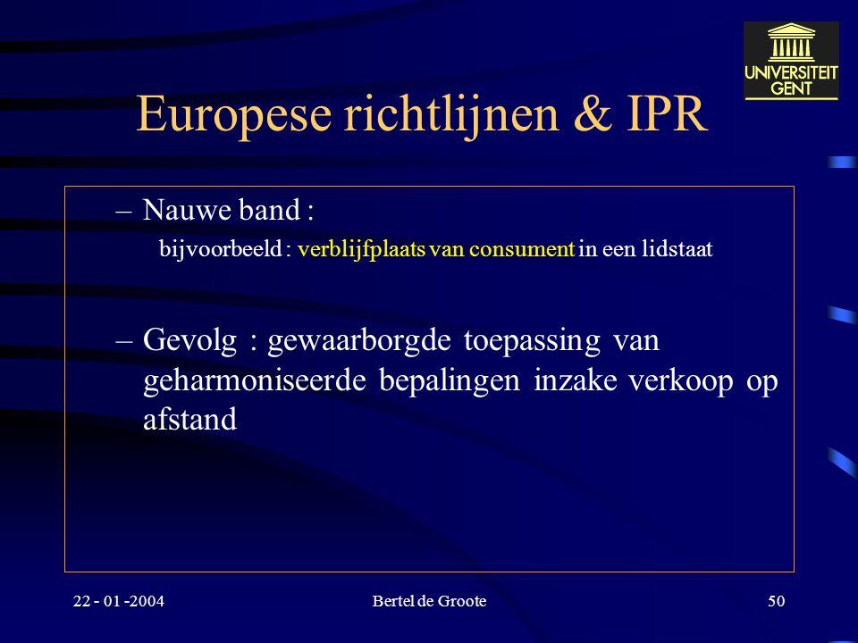 Europese richtlijnen & IPR