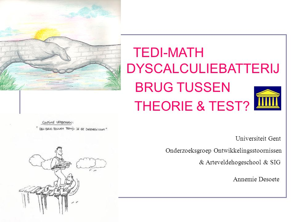 TEDI-MATH DYSCALCULIEBATTERIJ BRUG TUSSEN THEORIE & TEST