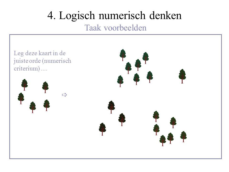 4. Logisch numerisch denken Taak voorbeelden