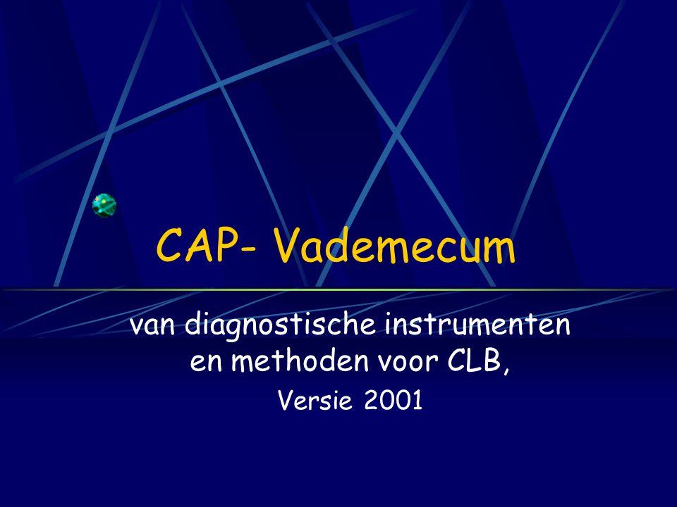 van diagnostische instrumenten en methoden voor CLB, Versie 2001