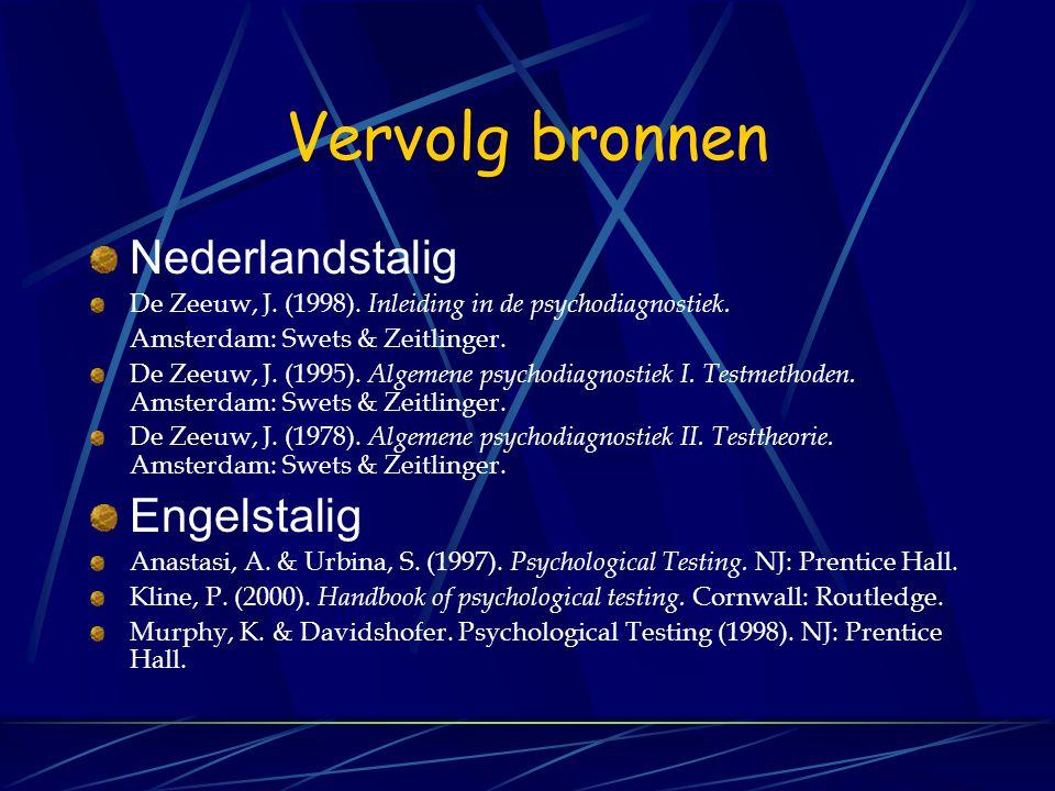 Vervolg bronnen Nederlandstalig Engelstalig
