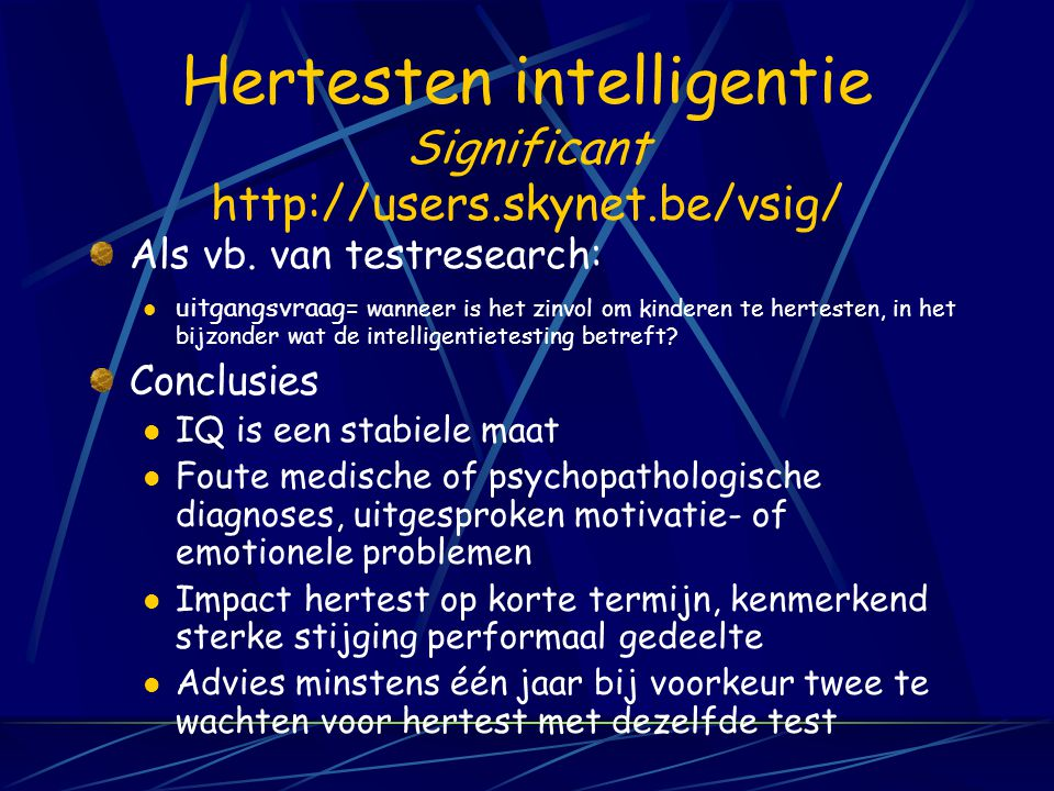 Hertesten intelligentie Significant http://users.skynet.be/vsig/